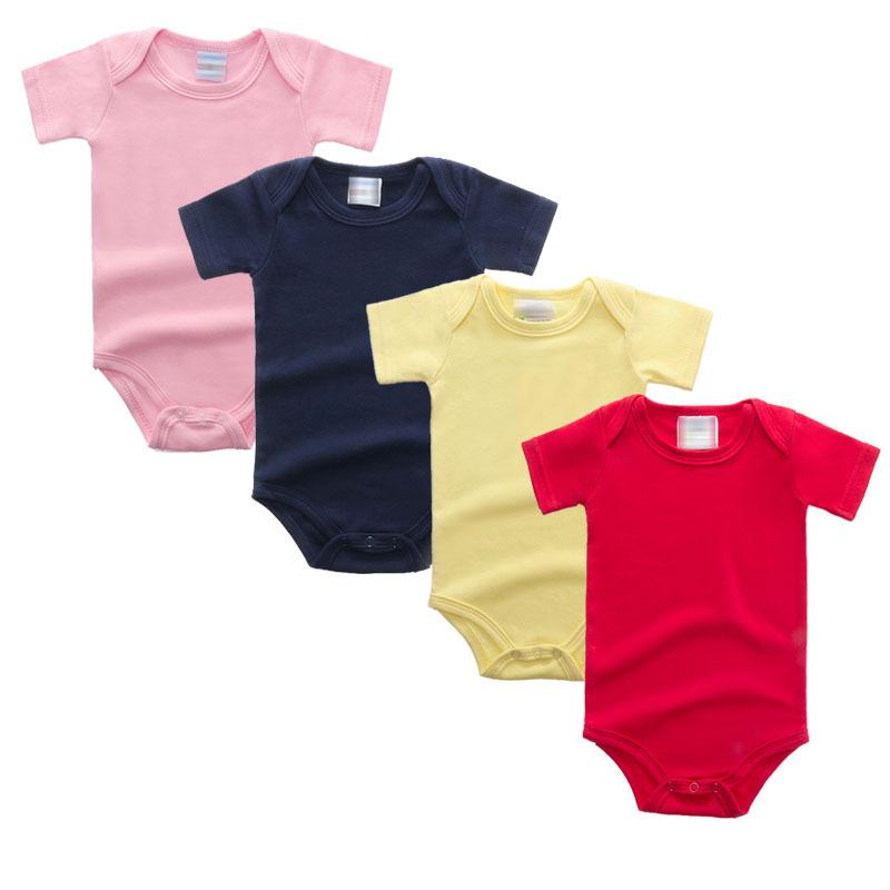 Baby Rompers Multi-Color Short Sleeve Healthy Cotton Newborn Jumpsuits Multi Colors Infant One-Piece Clothing 0-12M