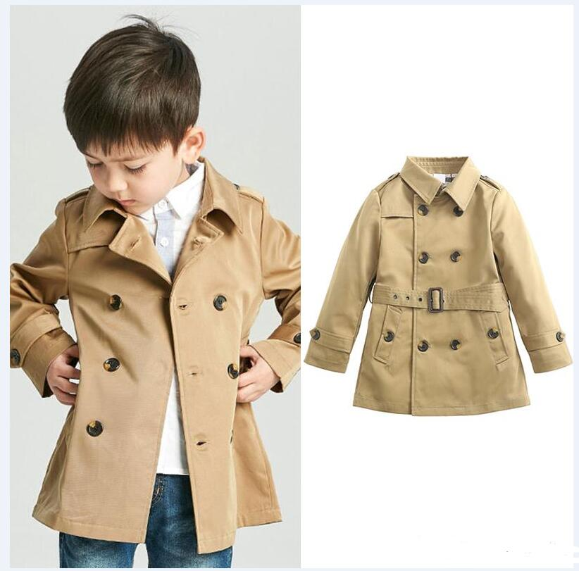 Baby Vintage Tench Coat Boy Girl Designer Clothes Windproof Jack