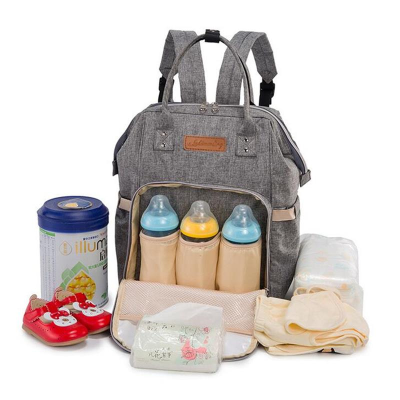 Multifunctional Mummy Backpack Newborn Baby Diaper Nappy Changing Bag Milk Bottles Travel Bags Outdoors Baby Care Gear